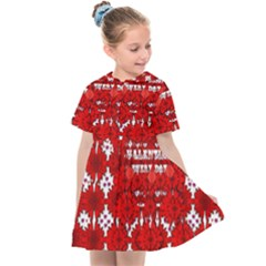 Happy Valentines Every Day Kids  Sailor Dress