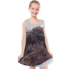 Laying In Dog Bed Kids  Cross Back Dress by pauchesstore
