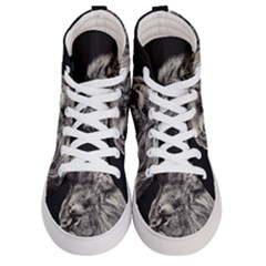 Angry Male Lion Men s Hi Top Skate Sneakers