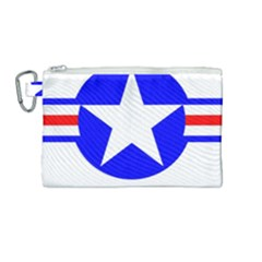 Us Air Force Usaf Canvas Cosmetic Bag (medium) by Bejoart