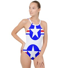 Us Air Force Usaf High Neck One Piece Swimsuit