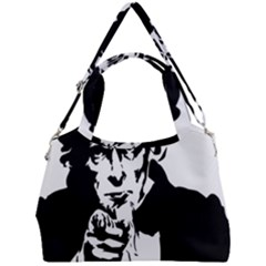 Uncle Sam Government Symbol America Double Compartment Shoulder Bag by Bejoart