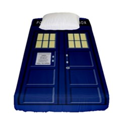 Tardis Doctor Who Time Travel Fitted Sheet (single Size)