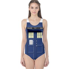 Tardis Doctor Who Time Travel One Piece Swimsuit