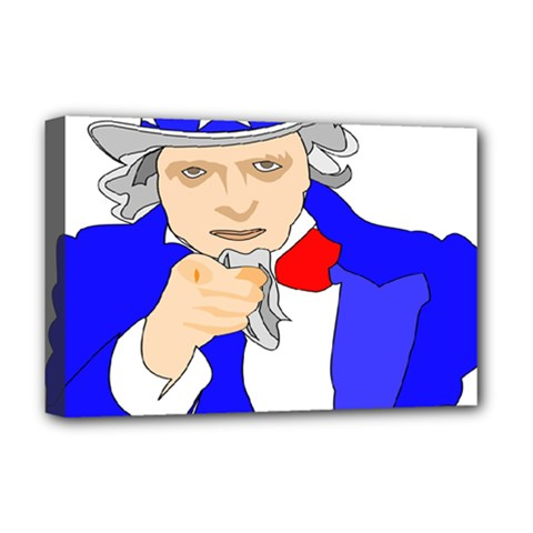 Uncle Sam I Want You Army Usa Man Deluxe Canvas 18  X 12  (stretched)