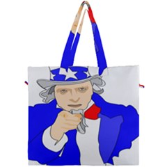 Uncle Sam I Want You Army Usa Man Canvas Travel Bag