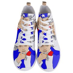 Uncle Sam I Want You Army Usa Man Men s Lightweight High Top Sneakers