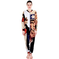 America Uncle Sam Impersonation Onepiece Jumpsuit (ladies)  by Bejoart