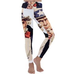 America Uncle Sam Impersonation Kids  Lightweight Velour Classic Yoga Leggings