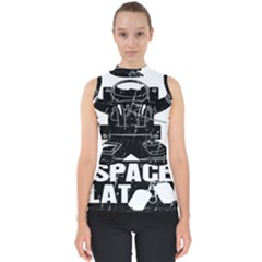 Platoon Space War Soldier Usa Mock Neck Shell Top