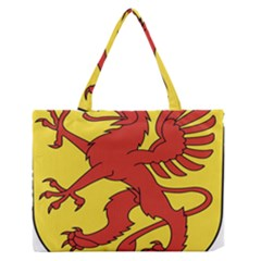 Dragon Crest Flag Swiss Griffin Zipper Medium Tote Bag