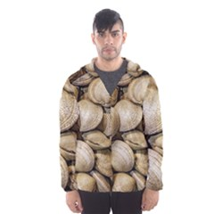 Shellfishs Photo Print Pattern Hooded Windbreaker (men)