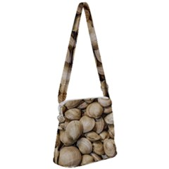 Shellfishs Photo Print Pattern Zipper Messenger Bag