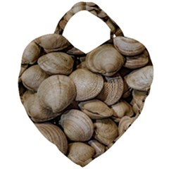 Shellfishs Photo Print Pattern Giant Heart Shaped Tote by dflcprintsclothing