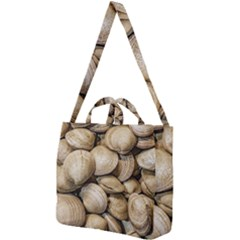 Shellfishs Photo Print Pattern Square Shoulder Tote Bag by dflcprintsclothing