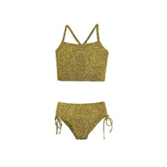 Gold Sparkles Girls  Tankini Swimsuit by retrotoomoderndesigns