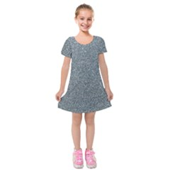 Silver Sparkle Kids  Short Sleeve Velvet Dress