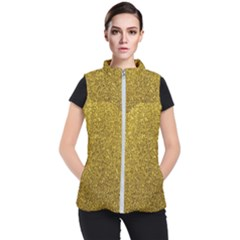 Gold Sparkles Women s Puffer Vest by retrotoomoderndesigns