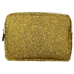 Gold Sparkles Make Up Pouch (medium) by retrotoomoderndesigns