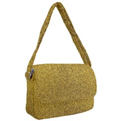 Gold Sparkles Courier Bag by retrotoomoderndesigns