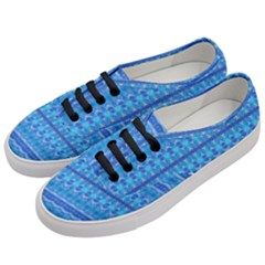 Stunning Luminous Blue Micropattern Magic Women s Classic Low Top Sneakers by beautyskulls