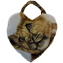 Lion Cub Giant Heart Shaped Tote