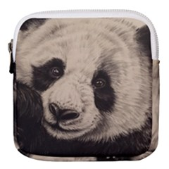 Giant Panda Mini Square Pouch by ArtByThree