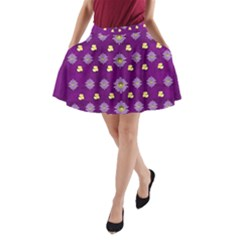 A Feel Of Flowers In Beautiful Air A Line Pocket Skirt