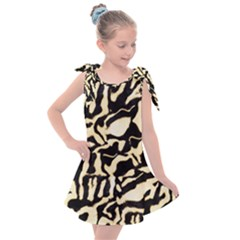 Luxury Animal Print Kids  Tie Up Tunic Dress