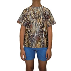 Luxury Animal Print Kids  Short Sleeve Swimwear by tarastyle