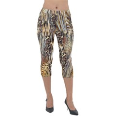 Luxury Animal Print Lightweight Velour Capri Leggings  by tarastyle