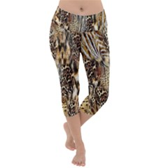Luxury Animal Print Lightweight Velour Capri Yoga Leggings by tarastyle