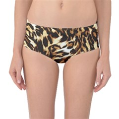 Luxury Animal Print Mid Waist Bikini Bottoms by tarastyle