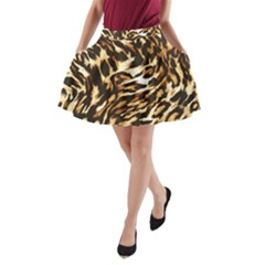 Luxury Animal Print A Line Pocket Skirt