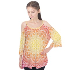 Colorful Mandala Flutter Tees by tarastyle