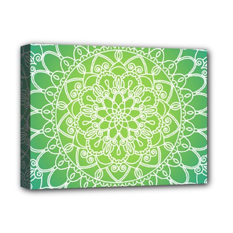 Colorful Mandala Deluxe Canvas 16  X 12  (stretched)