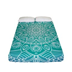 Colorful Mandala Fitted Sheet (full/ Double Size)