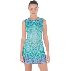 Colorful Mandala Lace Up Front Bodycon Dress