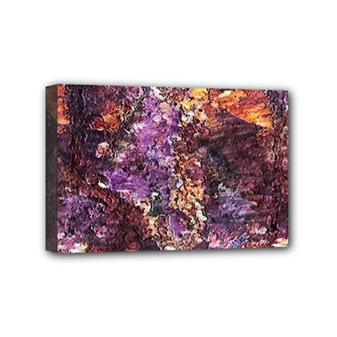 Colorful Rusty Abstract Print Mini Canvas 6  X 4  (stretched)