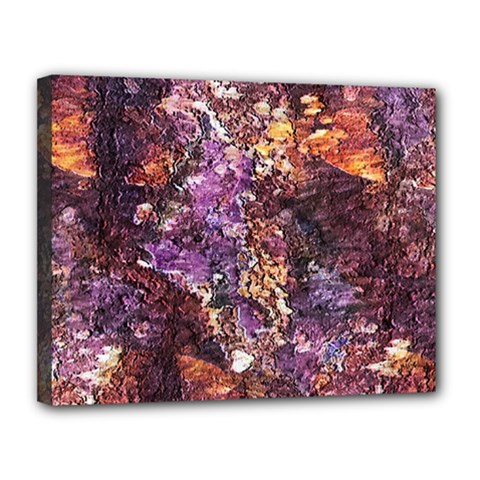 Colorful Rusty Abstract Print Canvas 14  X 11  (stretched)