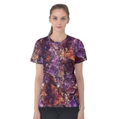 Colorful Rusty Abstract Print Women s Cotton Tee