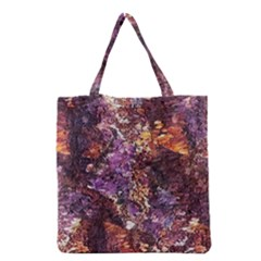 Colorful Rusty Abstract Print Grocery Tote Bag by dflcprintsclothing