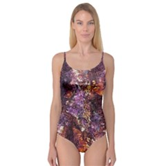 Colorful Rusty Abstract Print Camisole Leotard