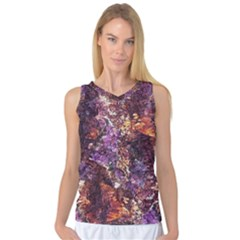 Colorful Rusty Abstract Print Women s Basketball Tank Top