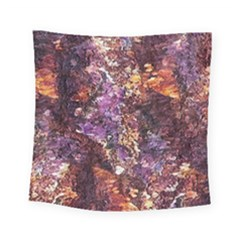 Colorful Rusty Abstract Print Square Tapestry (small)