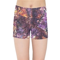Colorful Rusty Abstract Print Kids  Sports Shorts