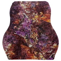Colorful Rusty Abstract Print Car Seat Velour Cushion