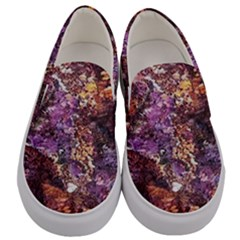 Colorful Rusty Abstract Print Men s Canvas Slip Ons