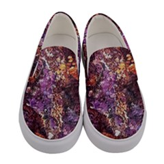 Colorful Rusty Abstract Print Women s Canvas Slip Ons