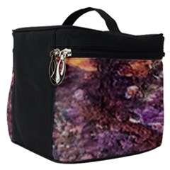 Colorful Rusty Abstract Print Make Up Travel Bag (small)